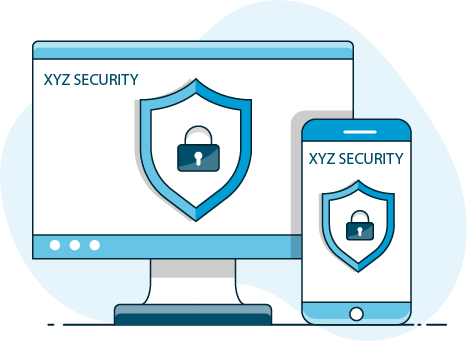 Computer monitor with -XYZ Security-